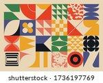 new retro aesthetics in... | Shutterstock .eps vector #1736197769