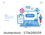 apply job  search job  hiring.... | Shutterstock .eps vector #1736200259
