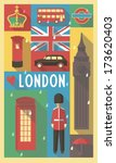 english cultural icons on... | Shutterstock .eps vector #173620403