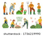 farmers and agricultural... | Shutterstock .eps vector #1736219990