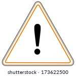 rounded triangle shape hazard... | Shutterstock . vector #173622500