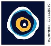 vector background of evil eye   ...   Shutterstock .eps vector #1736228360