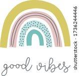 good vibes. design for greeting ...   Shutterstock .eps vector #1736244446