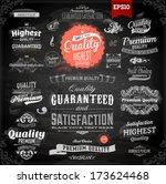 vector set of calligraphic... | Shutterstock .eps vector #173624468