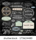 vector set of calligraphic... | Shutterstock .eps vector #173624480