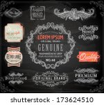 vector set of calligraphic... | Shutterstock .eps vector #173624510