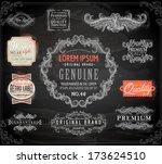 vector set of calligraphic... | Shutterstock .eps vector #173624510