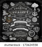vector set of calligraphic... | Shutterstock .eps vector #173624558