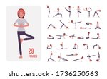 young sporty yogi woman... | Shutterstock .eps vector #1736250563