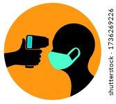 checking body temperature  icon ...   Shutterstock .eps vector #1736269226
