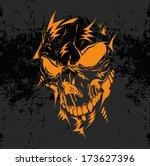 horrible skull illustration  ...