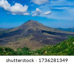 Kintamani volcano - an active volcano located at the center of two concentric calderas north west of Mount Agung on the island of Bali,Indonesia