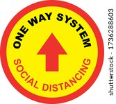 one way system shop floor sign... | Shutterstock .eps vector #1736288603