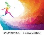 creative silhouette of female... | Shutterstock .eps vector #1736298800