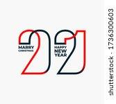 happy new year 2021. design... | Shutterstock .eps vector #1736300603