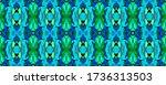 geo portugese ikat rapport.... | Shutterstock . vector #1736313503