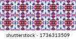 batik tie dye border.... | Shutterstock . vector #1736313509