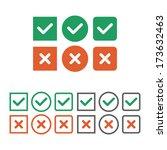 check box icon set. vector... | Shutterstock .eps vector #173632463