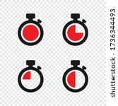 timer vector icons on... | Shutterstock .eps vector #1736344493