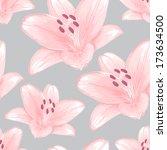 vector seamless gray background ... | Shutterstock .eps vector #173634500