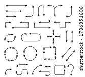 black arrows. illustration... | Shutterstock . vector #1736351606