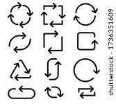 arrows in circular motion.... | Shutterstock . vector #1736351609