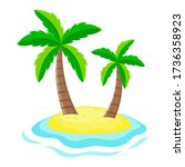 Two Palm Trees On A Small...