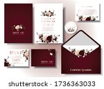 wedding invitation card set ... | Shutterstock .eps vector #1736363033