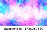 purple background watercolor.... | Shutterstock .eps vector #1736367560