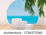 natural summer beach backdrop...   Shutterstock . vector #1736372360