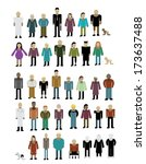 different types of peoples with ... | Shutterstock .eps vector #173637488