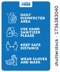 daily disinfected area  use... | Shutterstock .eps vector #1736383040