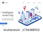 isometric smart city vector... | Shutterstock .eps vector #1736388923