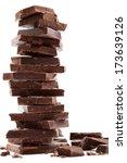 Dark Chocolate Bars Stack With...