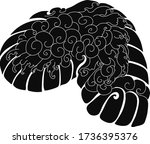 cloud tattoo  coloring book... | Shutterstock .eps vector #1736395376