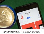 Small photo of New York, USA - 15 May 2020: Ali Remit mobile app logo on phone screen, close-up icon, Illustrative Editorial