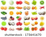 collection of various fruits... | Shutterstock . vector #173641670