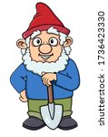 Cartoon Gnome Smiling With A...