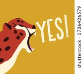 cute exotic wild big cat... | Shutterstock .eps vector #1736426579