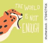 cute exotic wild big cat... | Shutterstock .eps vector #1736427416