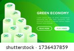 green economy web page template ...   Shutterstock .eps vector #1736437859