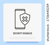 security disabled thin line...   Shutterstock .eps vector #1736440259