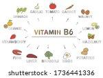 vitamin b6. foods rich in b6 ... | Shutterstock .eps vector #1736441336