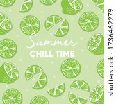 fruit design with summer chill... | Shutterstock .eps vector #1736462279