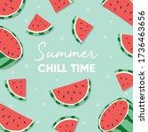 fruit design with summer chill... | Shutterstock .eps vector #1736463656