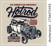 an american original hotrod  t ... | Shutterstock .eps vector #1736471453