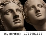 Group Gypsum Busts Of Ancient...