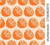 fruit seamless pattern  orange... | Shutterstock .eps vector #1736482073