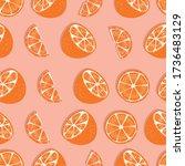 fruit seamless pattern  orange... | Shutterstock .eps vector #1736483129