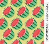 fruit seamless pattern ... | Shutterstock .eps vector #1736486669